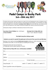 Summer Camps July August 2017